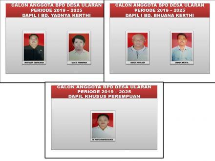 PENGUMUMAN!!! Berikut Calon Anggota BPD Periode 2019 - 2025